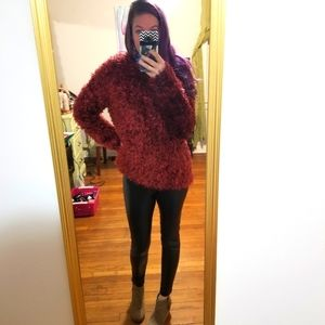 Urban Outfitters Fuzzy Eyelash Sweater Size Med